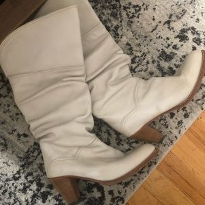 White Heeled Frye Boots